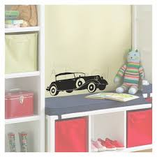 vintage car wall decal single colour kd1035