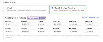 Monthly Budget Planning Launch Variable Budget Targets For Cost And Usage Budgets
