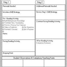 lesson plan template for kindergarten guided reading plus lesson plan template 447171024086 guided