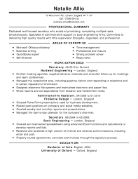 Resume Templates Free Examples Of Astounding Resumes Samples For