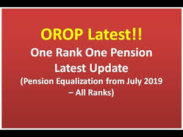 One Rank One Pension Defence Personnel Chart Orop Latest One Rank One Pension Pension Equalization From July 2019 All Ranks