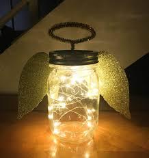Mason Jar Twinkle Lights Beautiful Angel Mason Jar Christmas Crafts Mason Jar