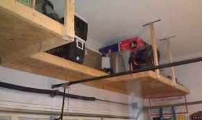 overhead garage storage shelf