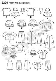 Doll Clothes Patterns Inspiration Amazon Simplicity Sewing Pattern 48 Doll Clothes One Size