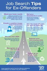 Tips For Job Seekers Infographic Job Search Tips For Ex Offenders Jist Career Solutions