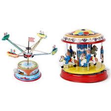 2 Stücke Wind Up Uhrwerk Karussell Rotierenden Raumschiff Kunsthandwerk Kinder Sammeln Spielzeug Sh190913