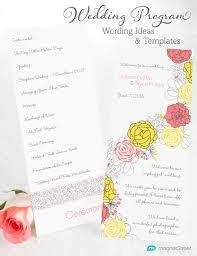 Wedding Program Designs Wedding Program Wording Magnetstreet Weddings