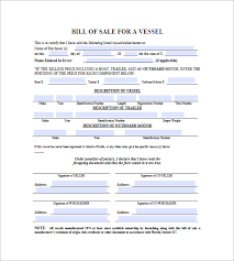 Sample Boat Bill Of Sale