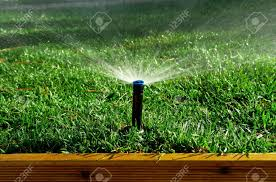 garden irrigation system. Garden Irrigation System Watering Lanw Stock Photo - 15628992