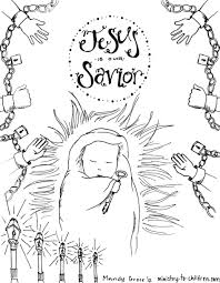 Download Coloring Pages: Baby Jesus Christmas Coloring Pages Free ...
