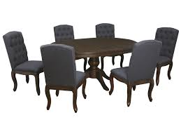 Trudell 7 Piece Oval Dining Table Set With Upholstered Side Chairs