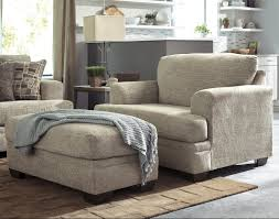 contemporary chair and a half ottoman