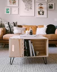 room decor diy storage coffee table