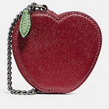 NWT Coach Leather Apple Coin Purse