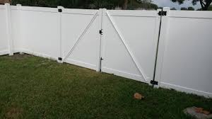 vinyl fence panels. Tampa Fence Company, River View Vinyl Panels I