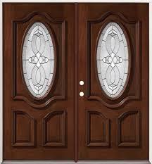 exterior double doors. 3/4 Oval Mahogany Prehung Double Wood Door Unit #86 Exterior Doors A