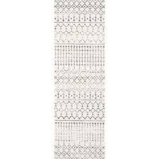 moroccan blythe grey 2 ft 8 in x 20 ft runner