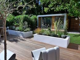 Small Picture Modern Garden Design Ideas 2 White stucco planters for the