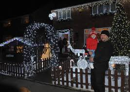 french house lighting. Colin French With Grandson Teddy Outside His House Lighting E
