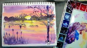 color mixing and brushes for beginners plus sunset painting tutorial you