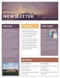 Free Downloadable Newsletter Template One Page Newsletter Template Word Valid E Page Newsletter Template