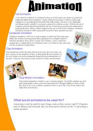 Animation P1 Task 1 Explain The Different Types Of Animation