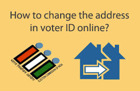 how to change address in voter id