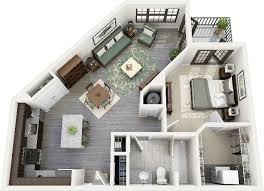 1 Bedroom House Plans 3d