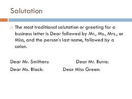 business letter salutation the business letter ppt video online download