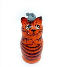 "<b>Матрешка</b>""Кошка мышка""(3места)-рыжий фон | <b>Матрешка</b> ..."