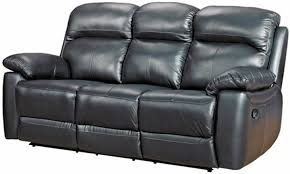 black recliner couch. Modren Black Aston Black Leather 3 Seater Recliner Sofa In Couch