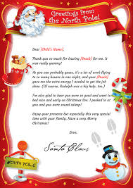santa thank you letter mailed or digitally delivered santa thank you letter