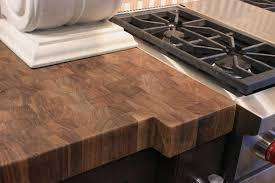 walnut butcher block countertop finished with butcher block wax