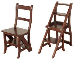 save space and add charming style to your home with this ladder chair folded it offers a place to sit with a storage shelf