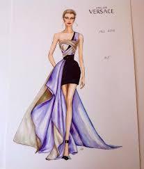 Model Dress Design Drawing Fashion Fashionillustration Versace Luxury Designer