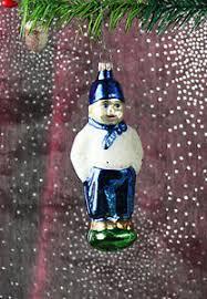 Mann Blau Weiß Schalke Weihnachtsbaum Christbaumschmuck
