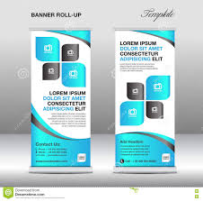 banner design template roll up banner stand template stand design banner template blue