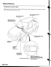 Wipers honda cr v rd1 rd3 g workshop manual crv fuse box location diagram