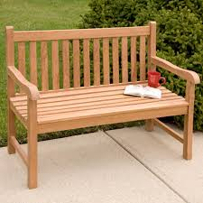 jakie teak outdoor classic straight back bench   ft or  ft