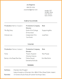 Resume For Beginners Amazing Resumes For Beginners Sample Acting Resume Template Resume For