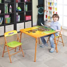 o kids folding table and chairs set scooby doo
