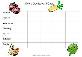 Food Journal For Fruit And Veggies Reward Chart Kids