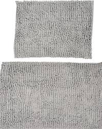 luxury microfiber chenille loop bath rugs 2 piece set contemporary bath mats by curtain call