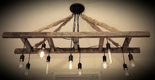 vintage farmhouse ladder chandelier with edison bulbs made with regard to farmhouse chandelier farmhouse chandelier decor