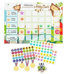 Childrens Stool Chart Potty Training Reward Chart Pack Toilet Training Chart For Toddlers Children With 120 Stickers Reward Medals Completion Badge For Boys Girls By