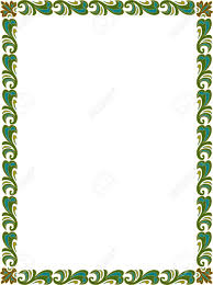 Beautiful Basic Design Border Frame In Vector Lines Colored