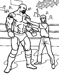 Small Picture Wrestling Referee Cornered a Wrestler Coloring Page Color Luna