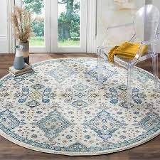 safavieh evoke vintage ivory light blue distressed rug 6 7 x