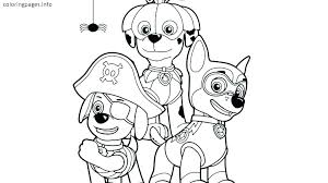 Paw Patrol Coloring Page Pages Chase Winso Qnrfsubmission