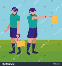 Referee Design Soccer Line Referee Design Royalty Free Stock Image